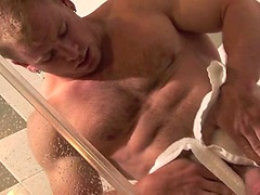 Ben Kieren jerking off in a shower