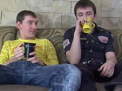 Straight guy gives his gay mate access to his tasty ass after a cup of tea