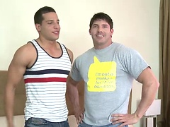 Raphael Cedano gets his ass rimmed and plowed by Jeremy Walker in his first ever bottoming hardcore video.