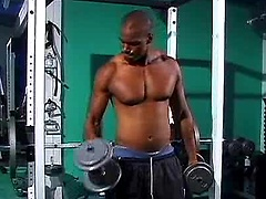 Drae working out and jerking off