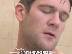 Golden Gate: Season 2 Episode 2. Muscle man jerking off in the shower