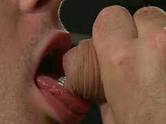 Hot stud tied and fucked