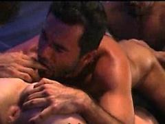Bruce Jennings , Enrico Vega , Jerek , Marco Montanna - gay hunks orgy