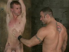 Muscle man slaves his buddy, ties him and fuck his tight ass