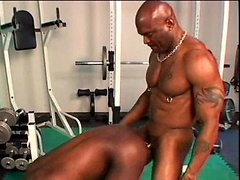 Flex-Deon Blake and Ricky Parker - gym fuck