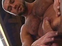 Francois Sagat jerking off dick