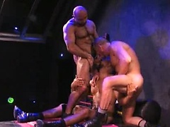 Hairy muscle bears Erik Hunter, Trojan Rock and Xerxes fuck