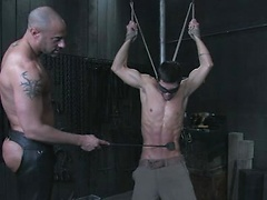 Slave panished by his dom