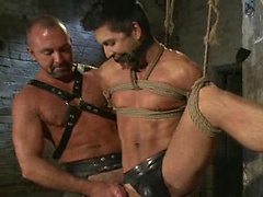 Muscled master fuck his slave\\\'s ass
