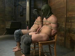Prisoners tied and fucked