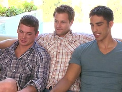 Eric Pryor, Dallas Evans and Milo Sommers goes threesome