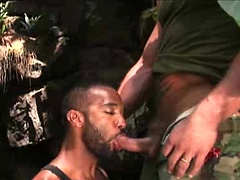 Jake Deckard and Marc LaSalle outdoor fuck