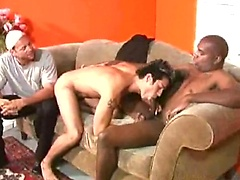 Brad Slater fucked by two hot black studs