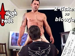 Tough trade. Muscle hunk gets a blowjob