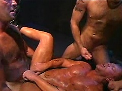 Matt Sizemore , Nick Piston , Parker Williams and Rick Hammersmith in orgy scene
