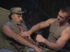 Two brave soldiers Paul Wagner and Sami Damo fuck