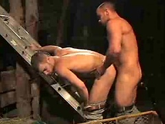 Hot, muscled and horny. Damien Crosse and Jackson Wild fuck
