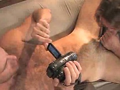 Hairy muscle boys Cole Streets and David Taylor fuck