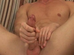 Aaron Mason plays with his cock
