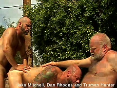 Jake Mitchell, Dan Rhodes and Truman Hunter fucking outdoors