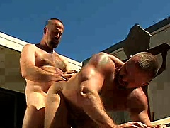 Clint Taylor Fucks Rik Kappus outdoors