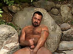 Marc Angelo jerking off his big fat cock
