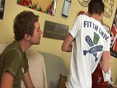 Horny boys Issac Novak and Leo Paige ass fucking scene