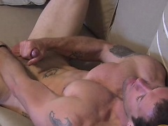 Cash McCoy jerking off his cock and toying his ass