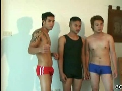 Thai Twinks Clash in \\\'Cum Crazy Wrestlers\\\'