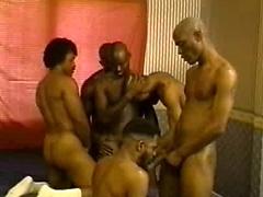 Ebony muscle guys orgy