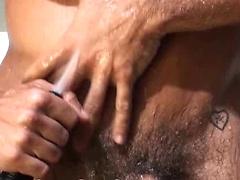 Heat Stroke. Muscle men gets a blowjob