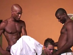 Ricky Diaz fucked by two black boys