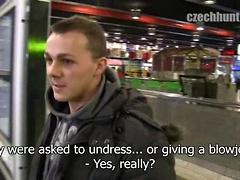 Czech jock suck off cock