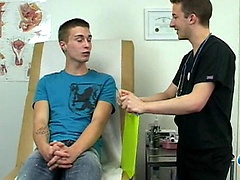 College boy gets fucked by doctor in exam room.