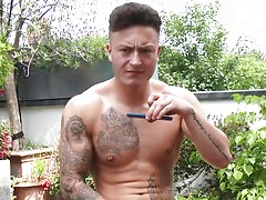 Straight young personal trainer from Britain shows his HOT Muscled Body