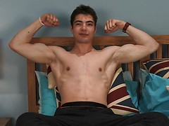 Young, Tall, Toned, Uncut and Straight - Toni gets his 1st Manhandling!