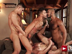 Louis, Apolo, Drake, And Andrea's Ass-splitting Foursome