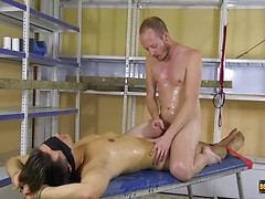 Rubbing Cocks In The Storeroom - Maxxie Wilde & Sean Taylor in a frottage scene