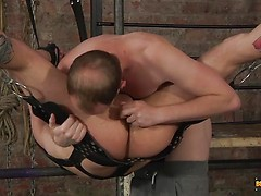 Koby Endures An Arse Slamming! - Koby Lewis & Sean Taylor