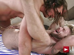 Dan Saxon Pounds Gabriel Phoenix On Fire Island