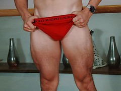 Young & Muscular Straight Lad Clayton Wanks