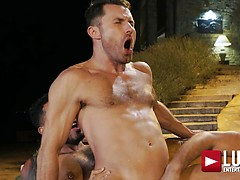 Viktor Rom, James Castle, Manuel Skye - Bareback Threesome