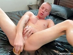 Tanner Hyde Uses Massive Dildo