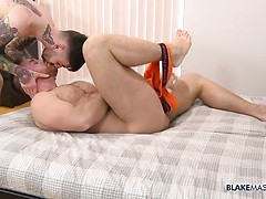 Riding His Solid Bodybuilder Cock - Jonas Jackson & Frankie Quinn fuck