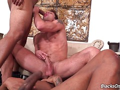 Jarret Moon, Knockout & Ray Diesel  hardcore anal fucking