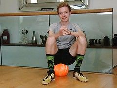 Eighteen Year Old Footballer Bradley Shows his Lean Body & Long and Thick Uncut Cock!
