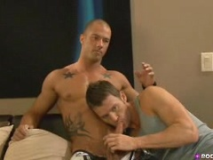 Watch the two sexy guys working in a behind the scene clip!