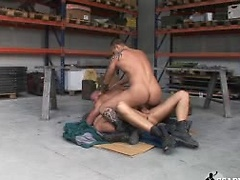 First he takes Chris\\\' dick, then both the cock and the fist!