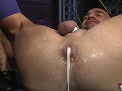 Nick pulls a monster dildo and his arm in Balboa\\\'s asshole!