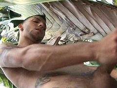 Nick Cross jacking off dick